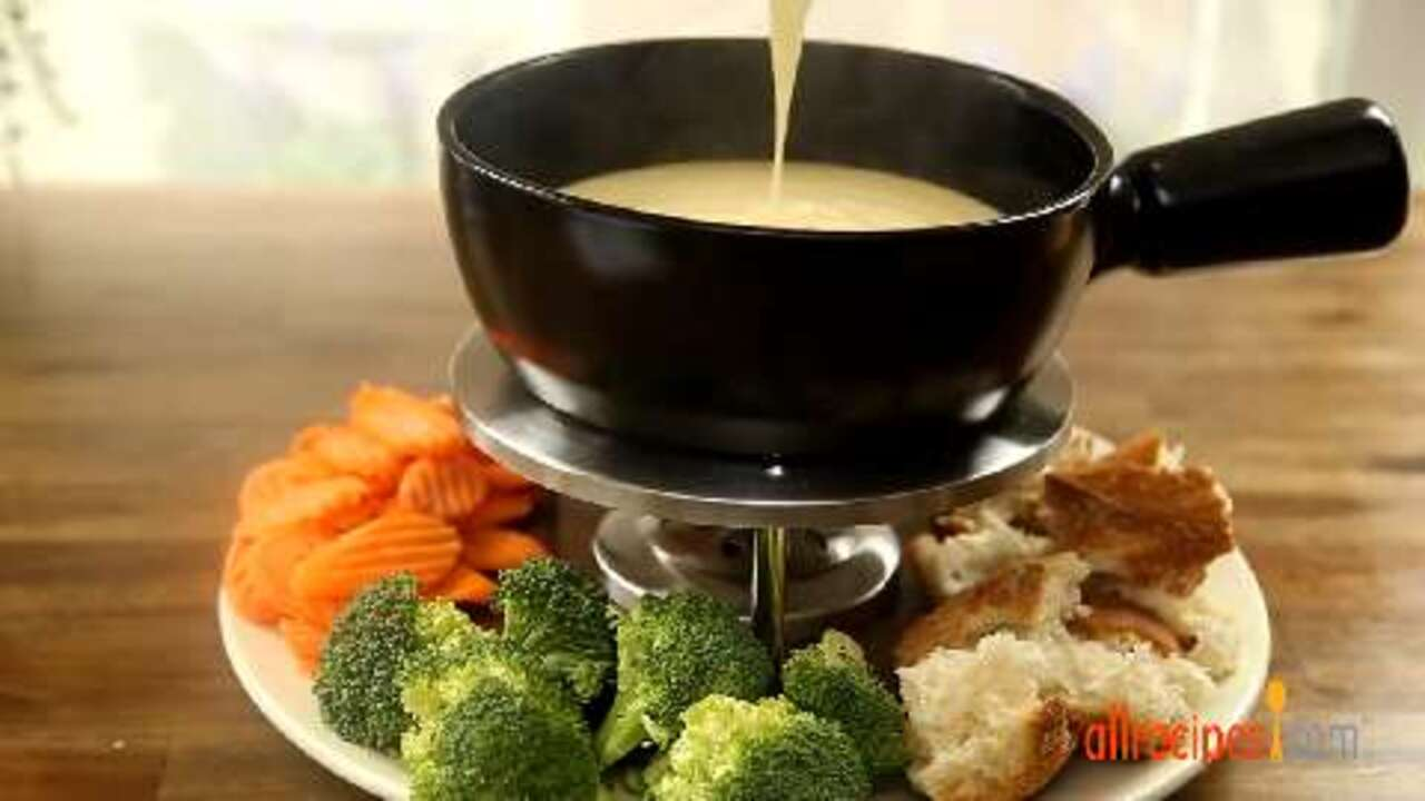 the best swiss cheese and beer fondue video