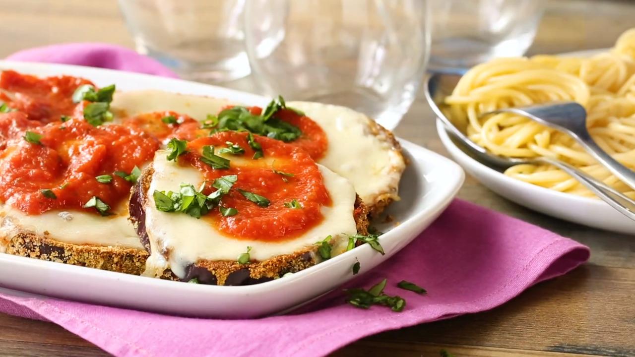 air fryer eggplant parmesan video