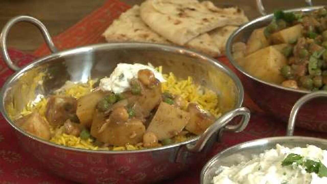 spicy vegan potato curry video