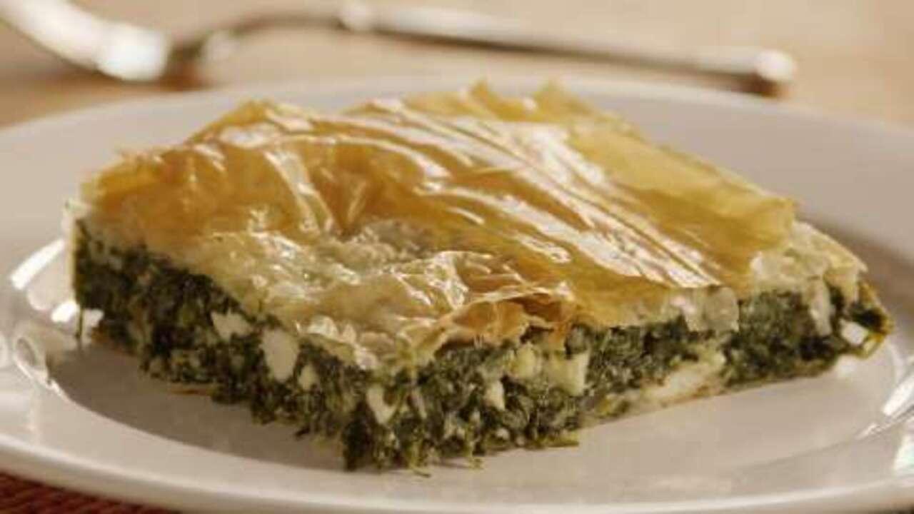 spanakopita greek spinach pie video