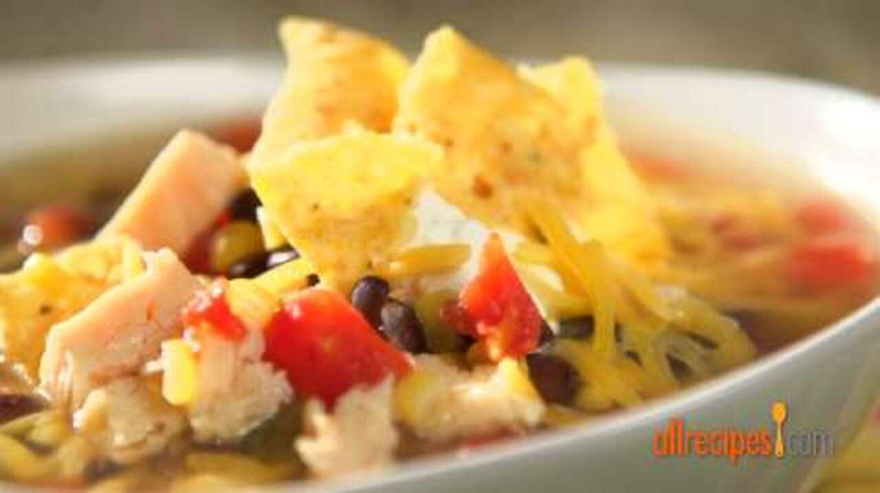 six can chicken tortilla soup video