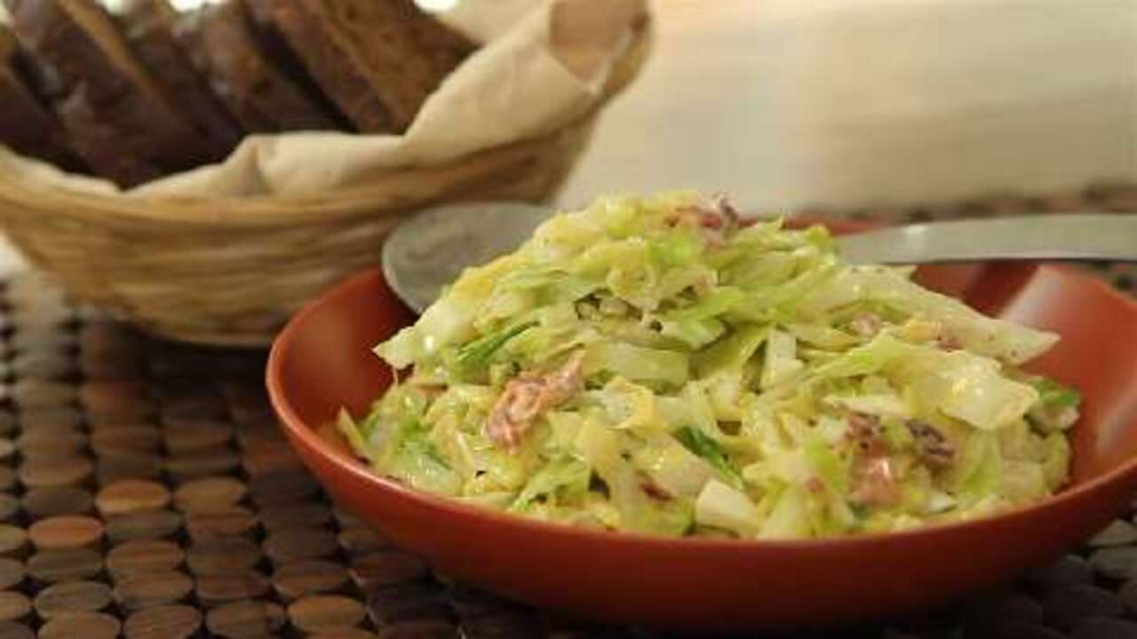 creamed cabbage video