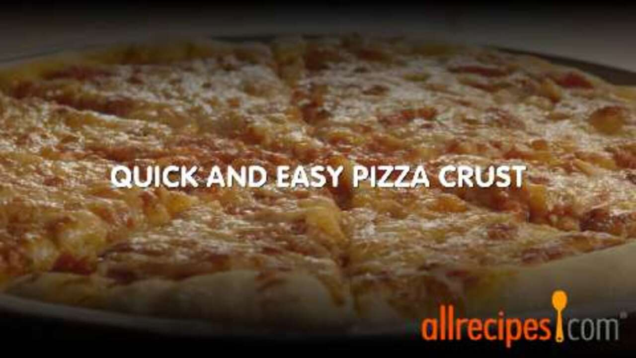 quick and easy pizza crust video