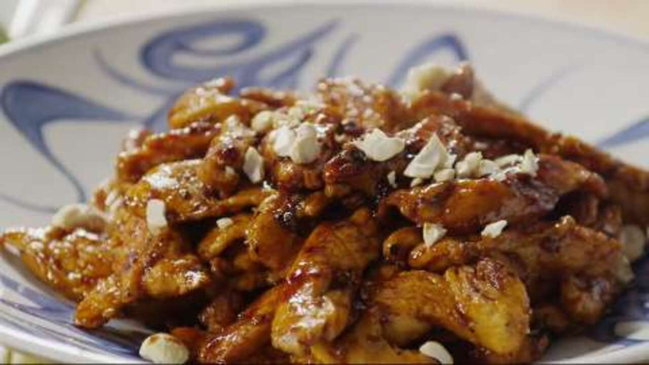 sweet sticky and spicy chicken video