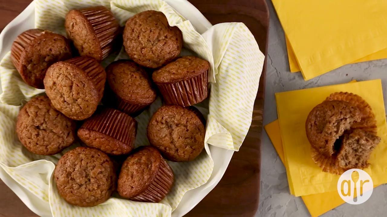 vegan banana muffins video