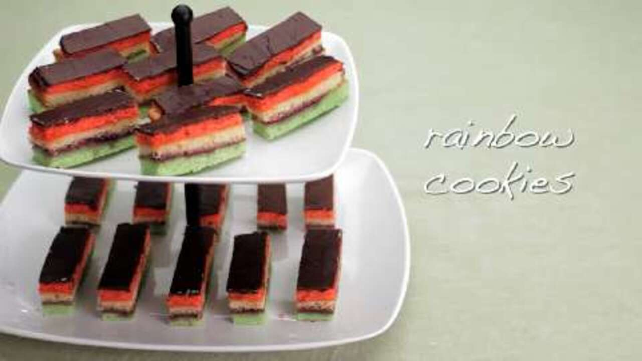 rainbow cookies video
