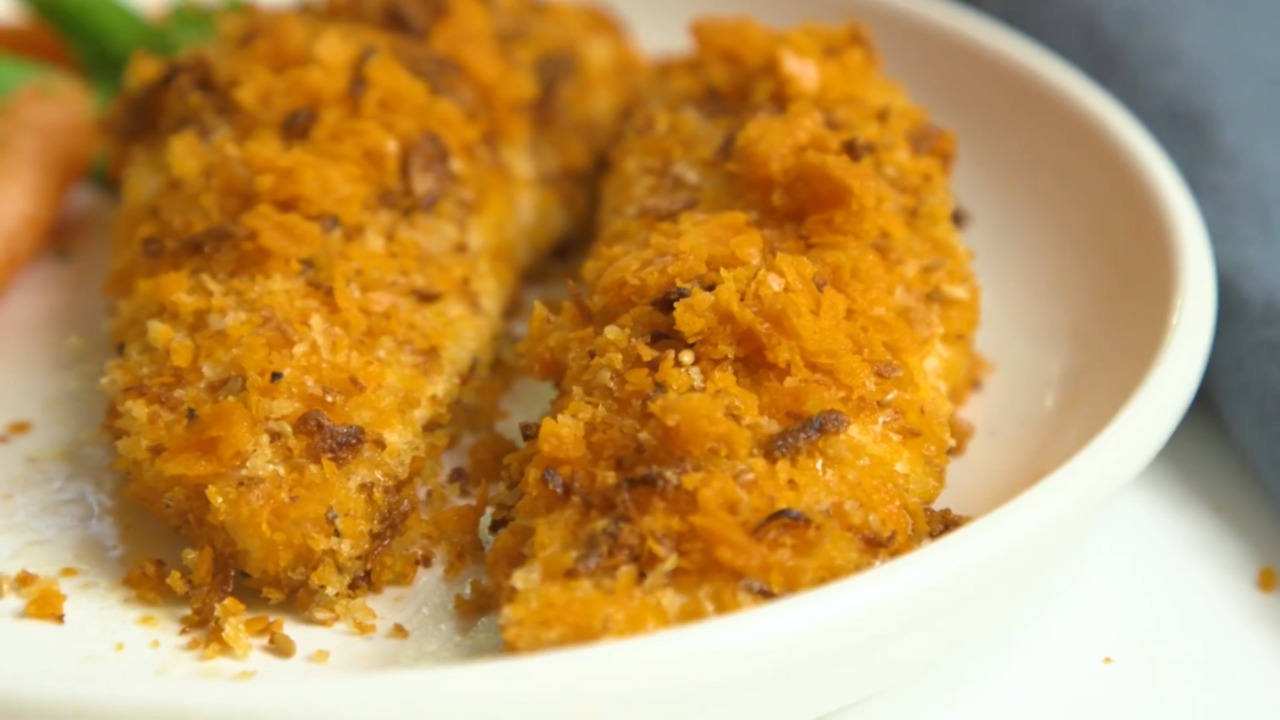 amazing crusted chicken video