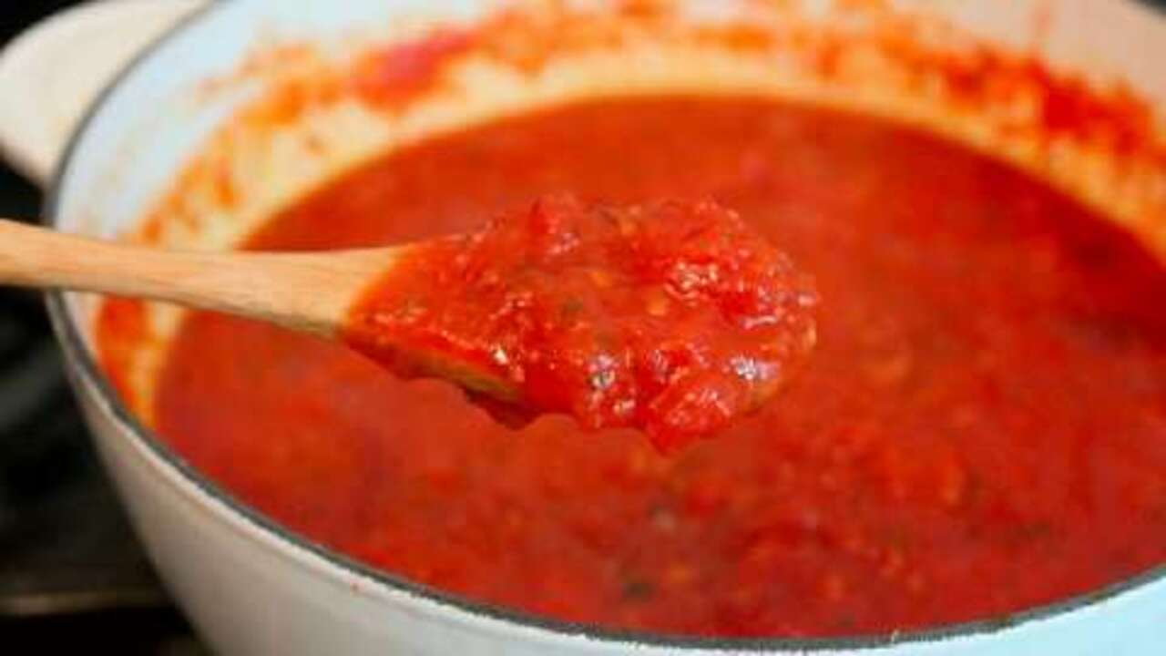 How to make pizza sauce from pasta