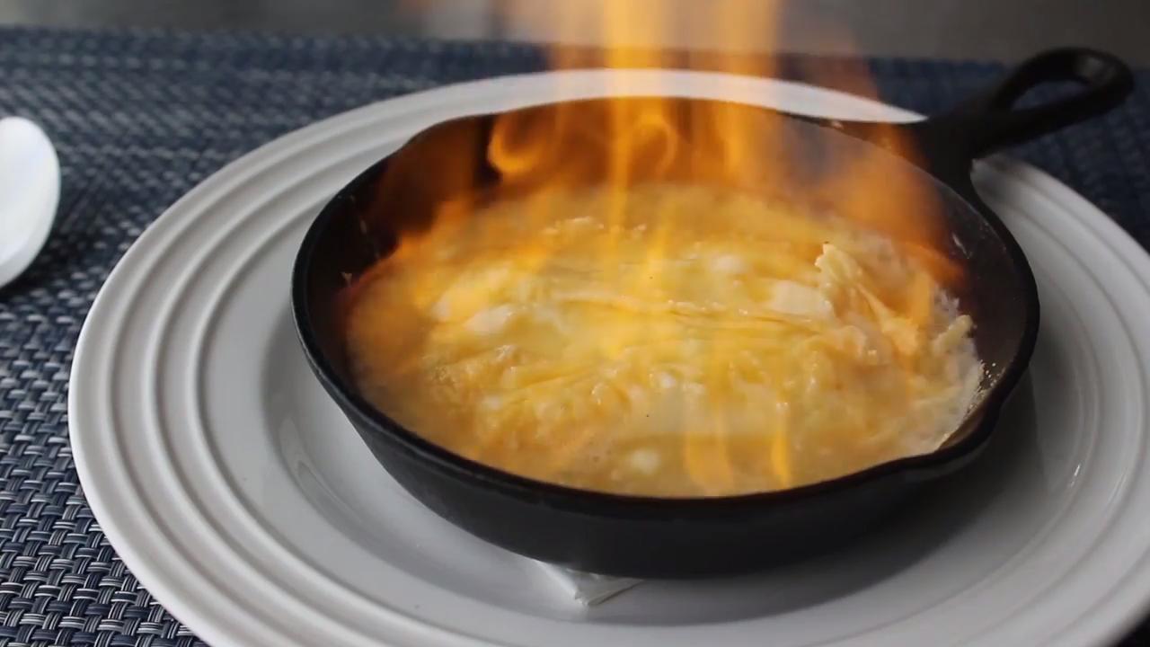flaming greek cheese saganaki video