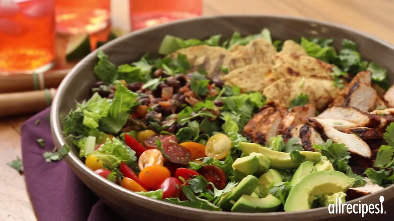 grilled chicken taco salad video