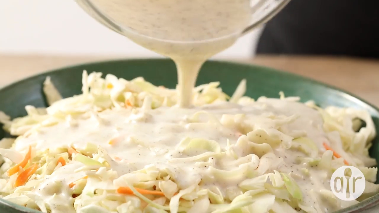 easy coleslaw dressing video