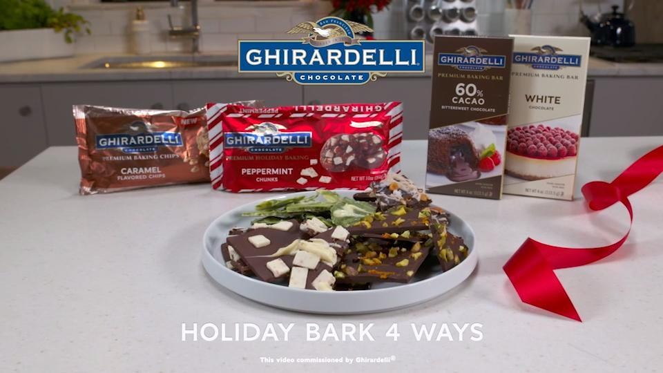 holiday bark 4 ways peppermint bark video