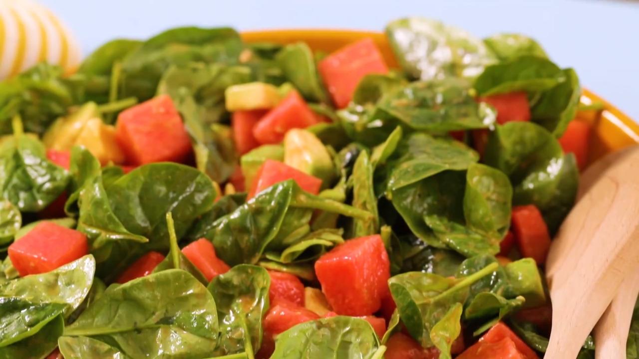 avocado watermelon salad video