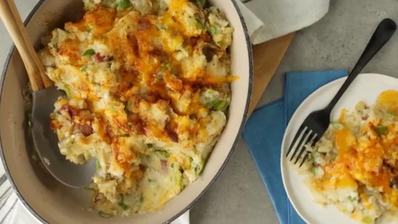 teenas bacon and cheddar potatoes video