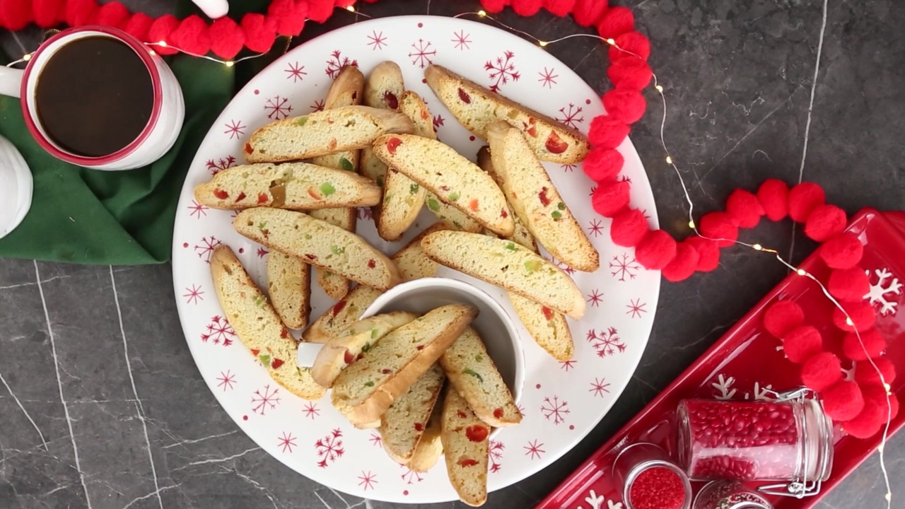 candied fruit biscotti video