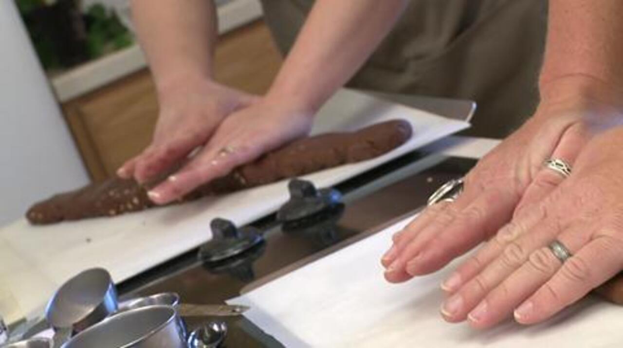 homemade chocolate hazelnut biscotti video