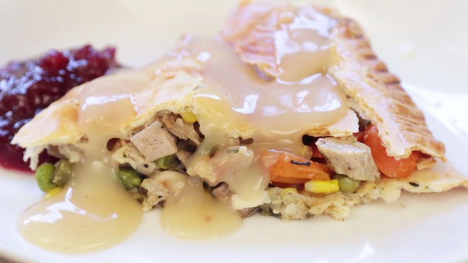 leftover turkey pot pie video