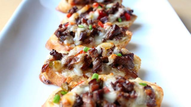 chef johns mini philly cheesesteaks video