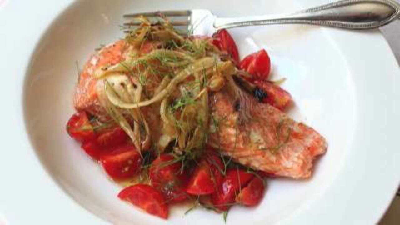 fennel smoked salmon video
