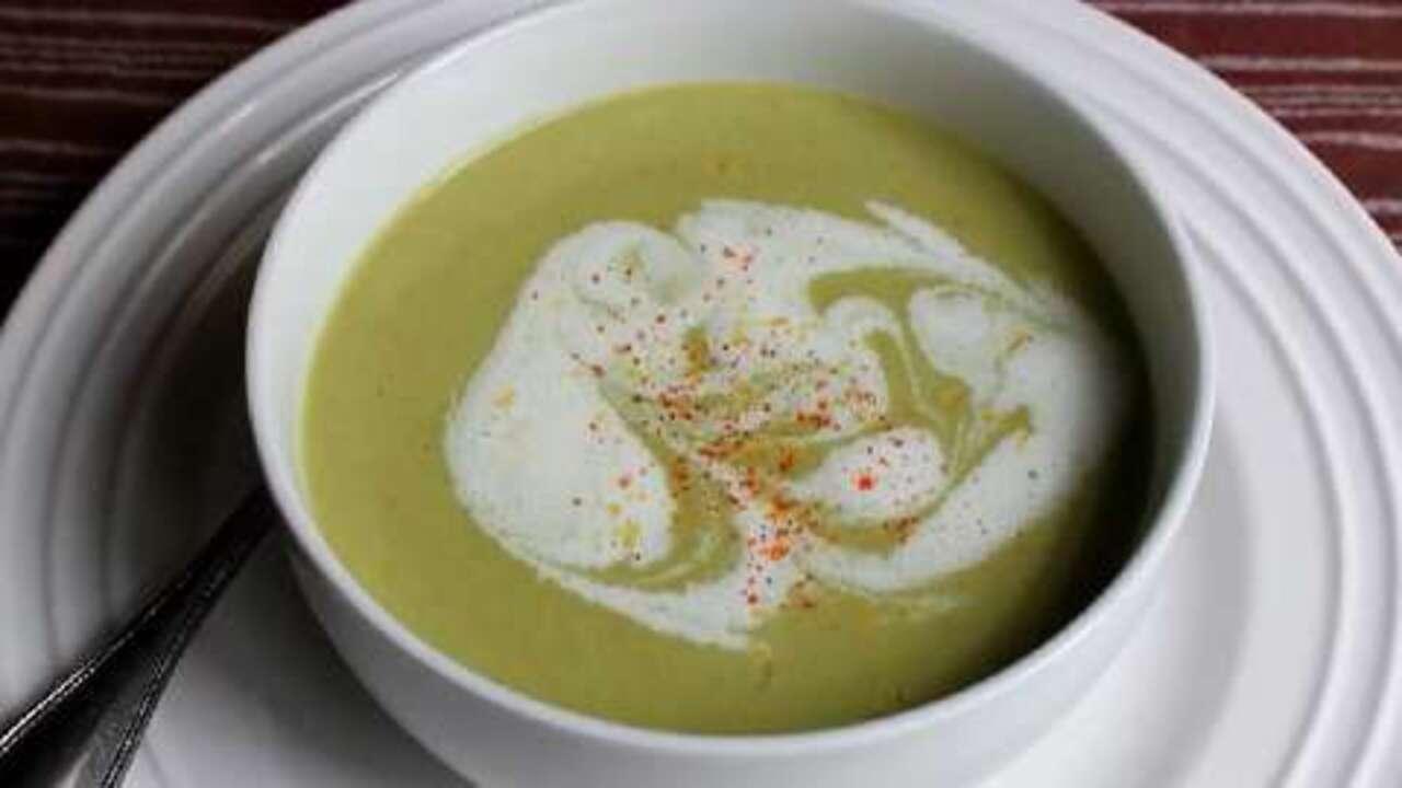 how to make cream of asparagus soup video