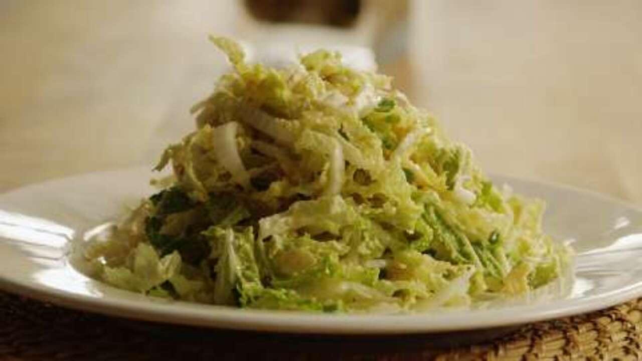 napa cabbage salad video