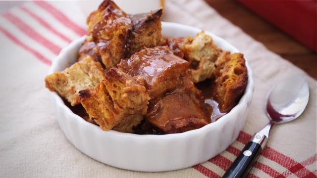 pumpkin pie bread pudding video