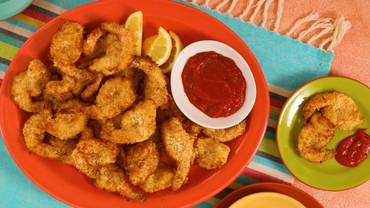 air fryer butterflied shrimp video