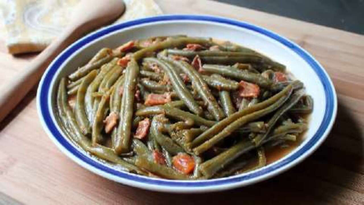 slow cooked green beans video