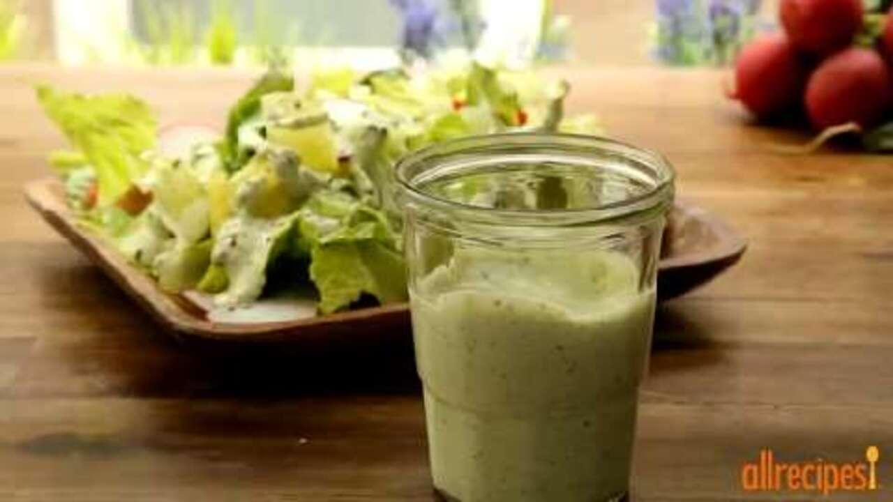 green goddess salad dressing video