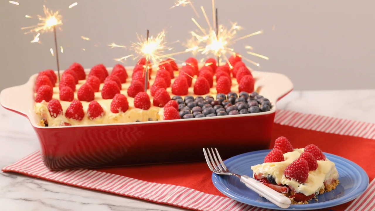 4th of july flag cake video
