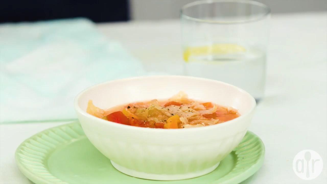 instant pot vegan cabbage detox soup video