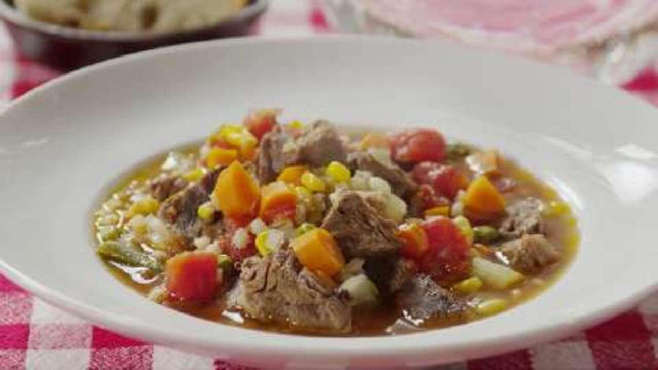 beef barley vegetable soup video