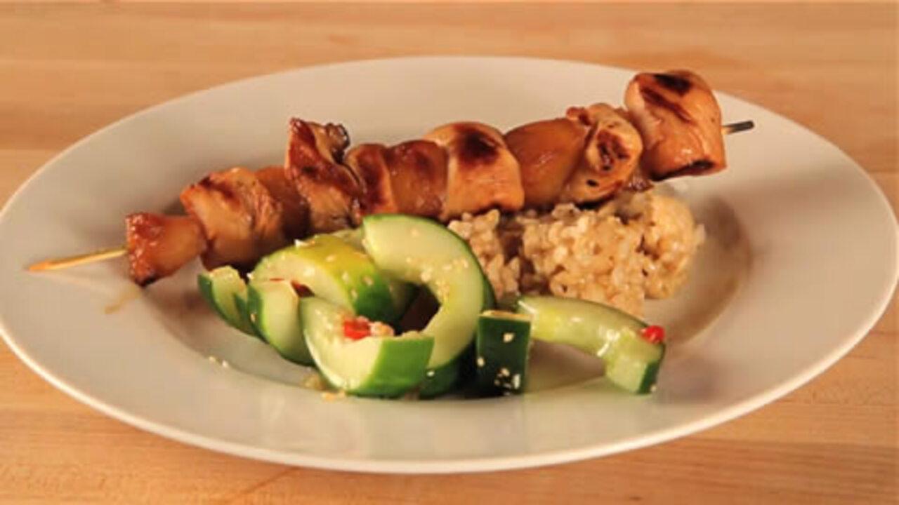 low cal hawaiian chicken kabob dinner video