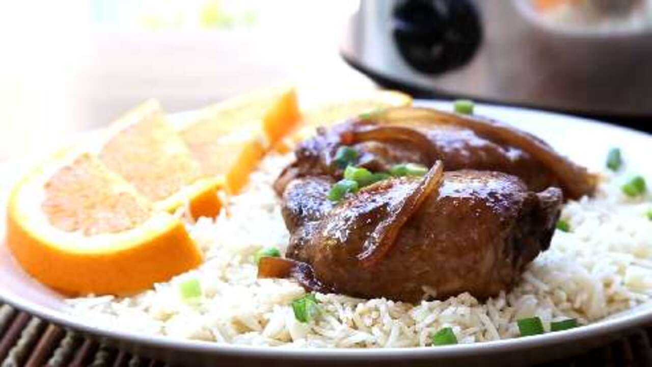 slow cooker adobo chicken video