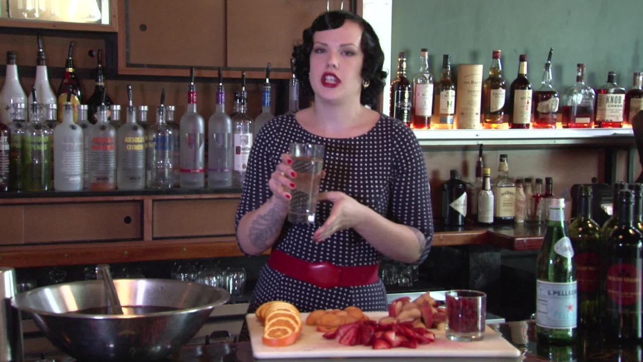 sangria cocktail video