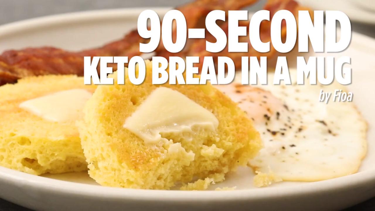 90 second keto bread in a mug video