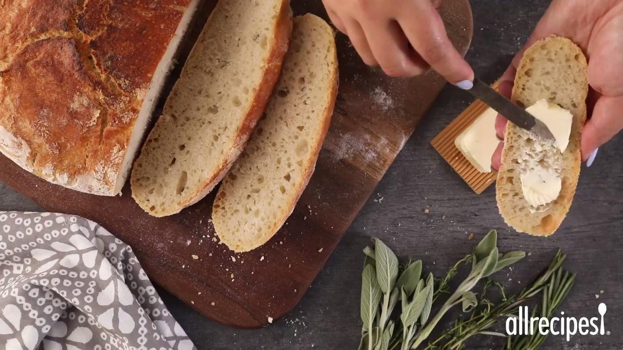 no knead artisan style bread video