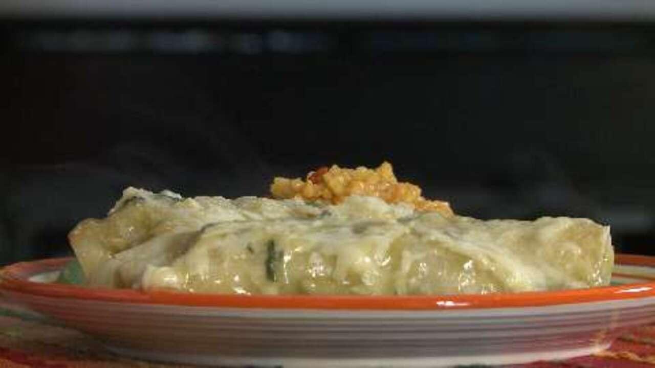 spinach enchiladas video