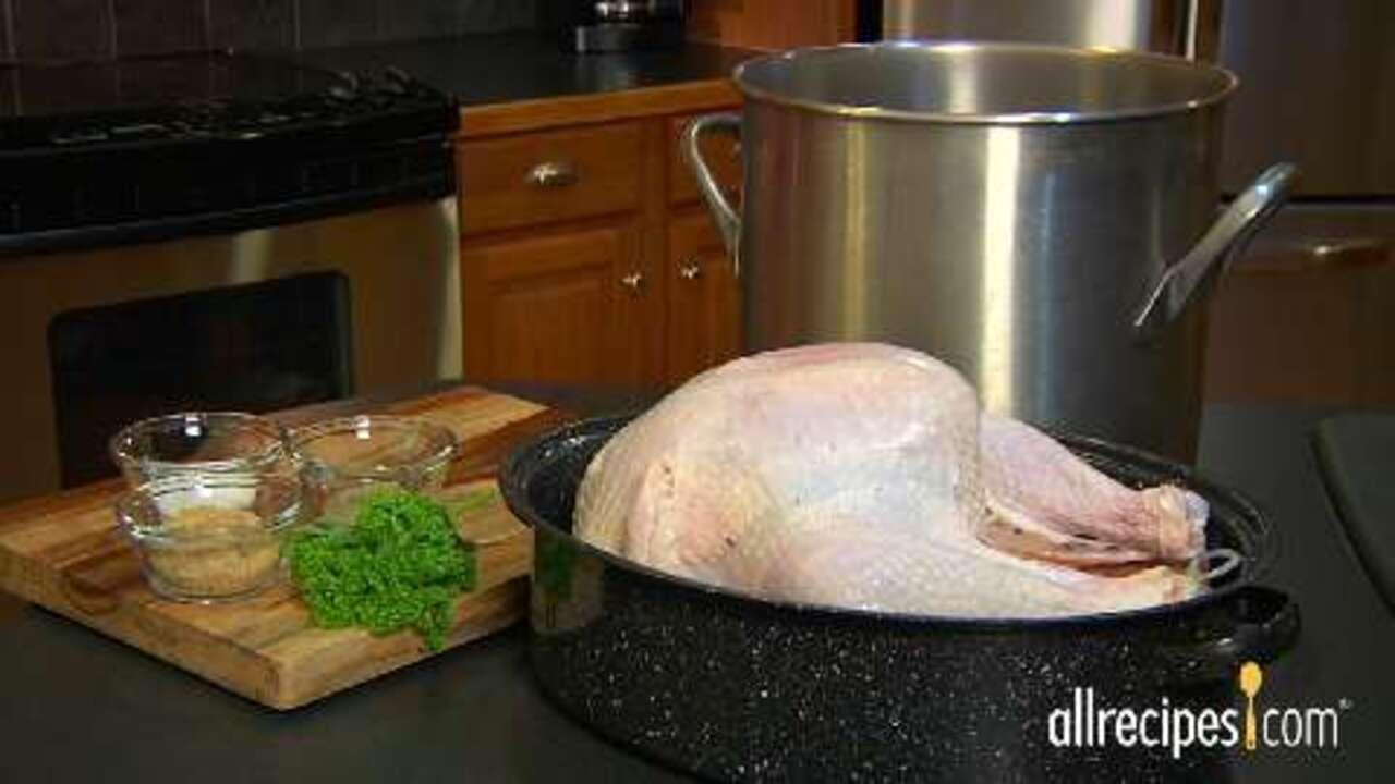 how to brine a turkey video allrecipes com how to brine a turkey