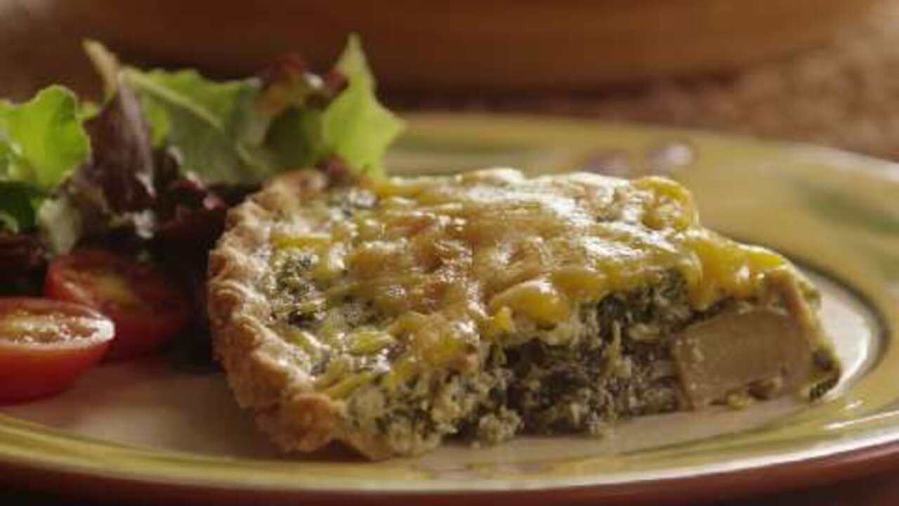 spinach quiche video