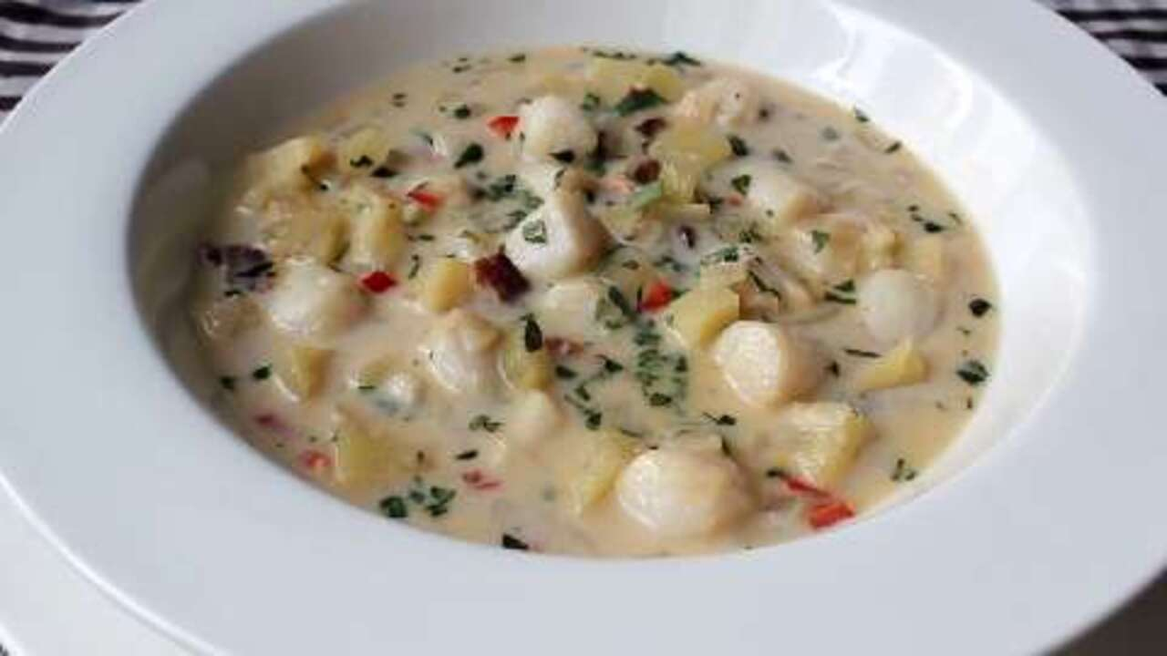Chef John's Bay Scallop Chowder Video