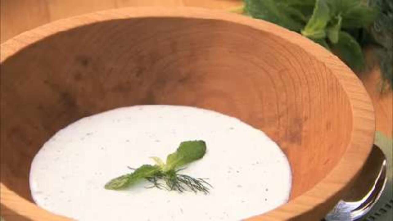 how to make cold cucumber soup video