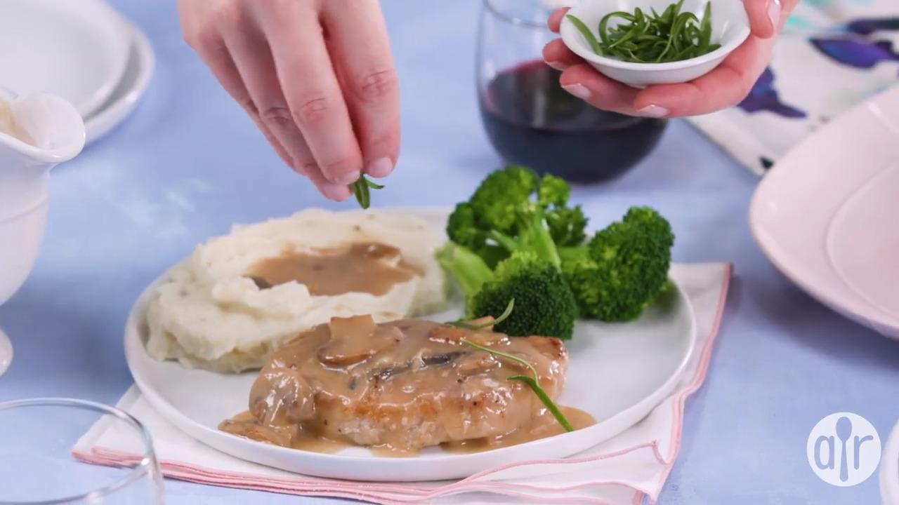 pork chops in sherry mushroom gravy video