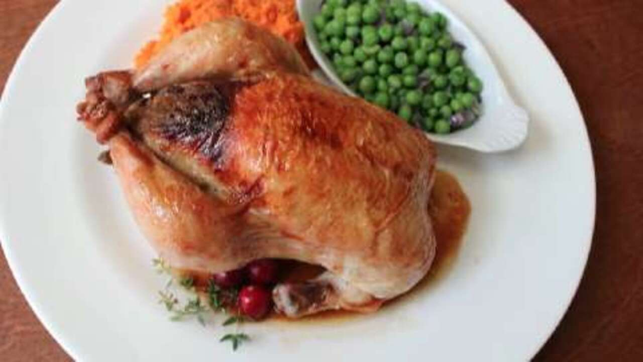 cranberry stuffed game hens video