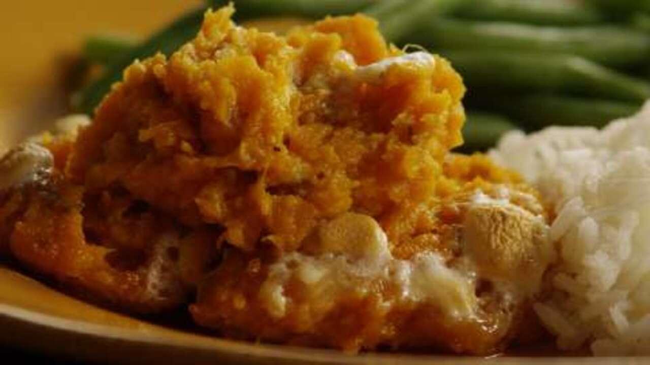whipped sweet potato casserole video