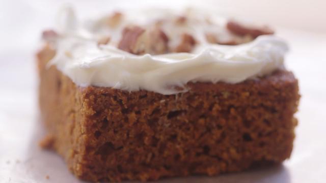 Two Ingredient Pumpkin Cake Video Allrecipes Com