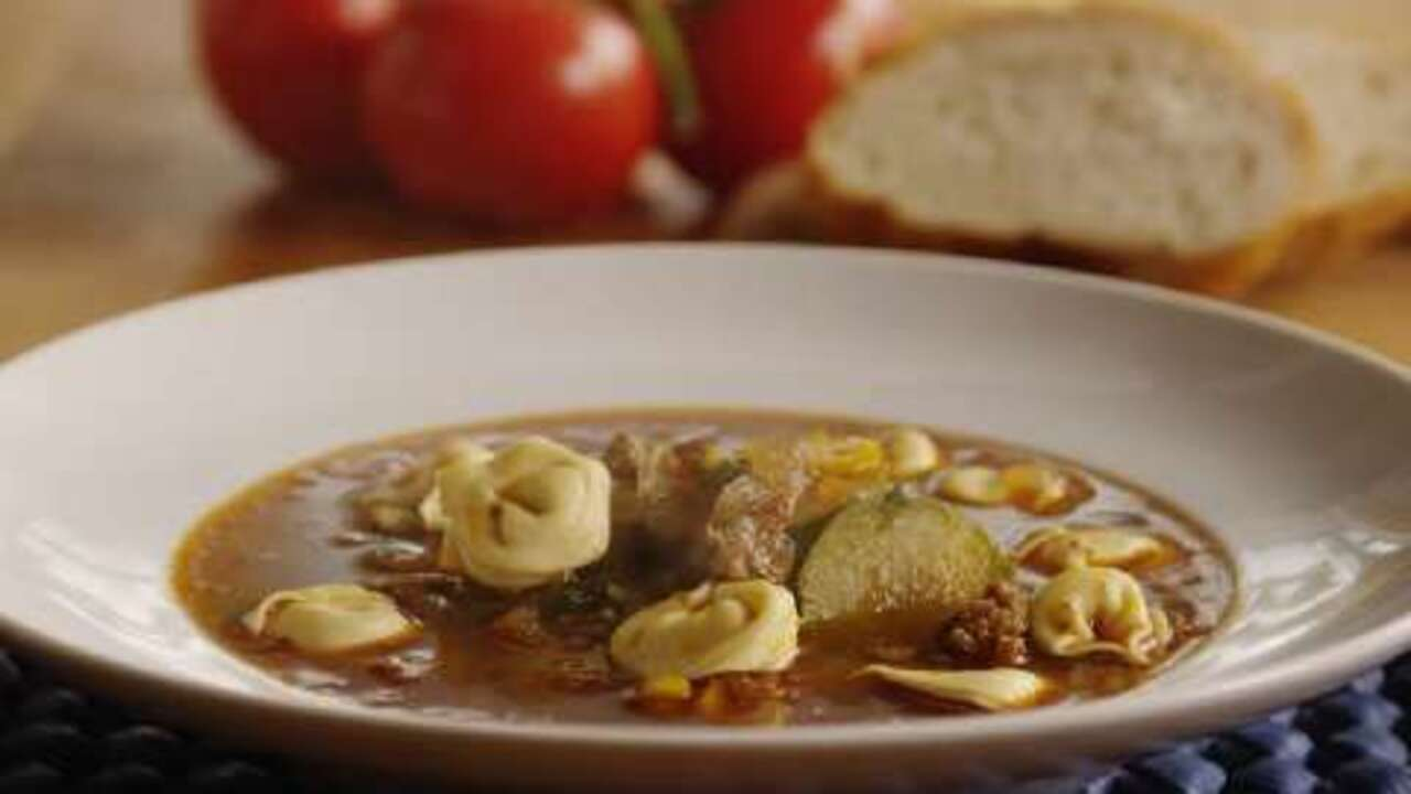 italian sausage soup with tortellini video