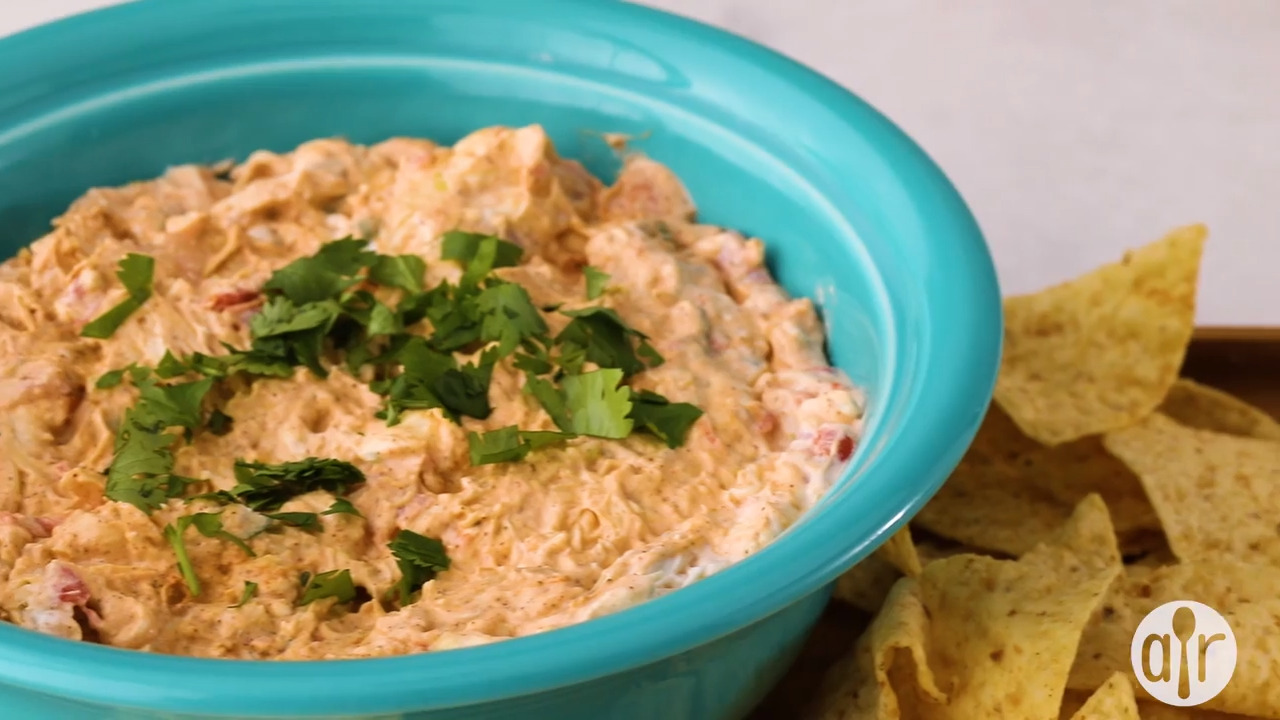 sassy chicken enchilada dip video