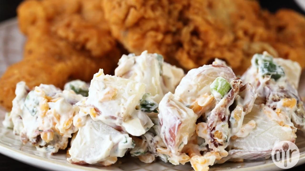 kristens bacon ranch potato salad video