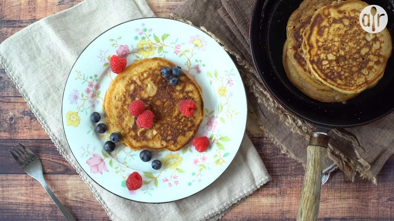 spelt pancakes video